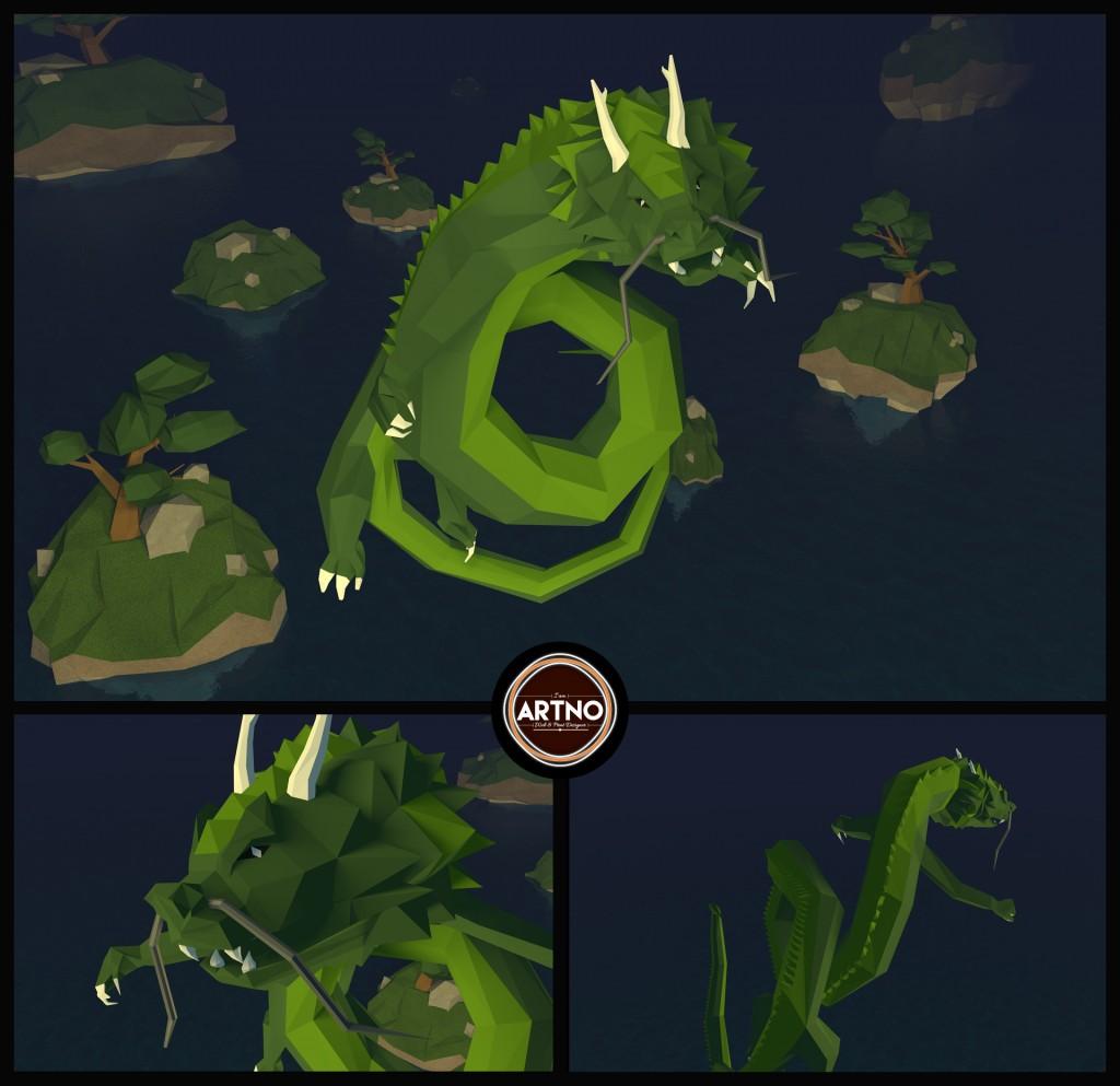 LowPoly-Dragon-ArtnoDesign